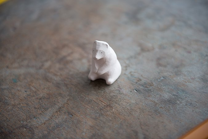 Tea bag holder shirokuma made in Hasami.