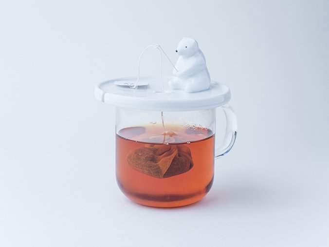 Tea bag holder shirokuma desgined by NECKTIE design office